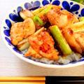 絶品*塩レモン風味のジューシー焼き鳥丼 by mariaさん