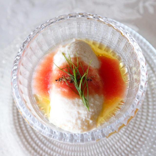 ざる豆腐のトマトクーリ