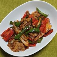 豚肉とニンジン他の中華風味噌炒め