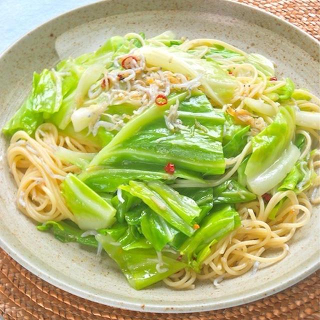 1/2日分の野菜が摂れる!嬬恋高原キャベツの和風ペペロンチーニ。