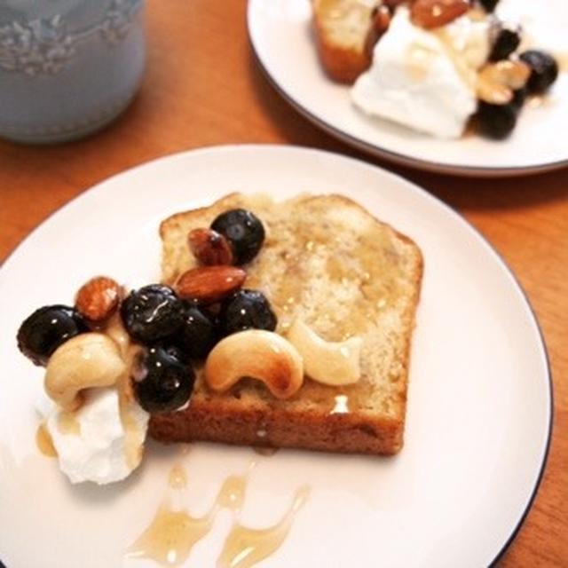 バナナパウンドケーキ&水切りヨーグルト