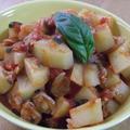簡単☆あさりとじゃがいものバジルトマト煮