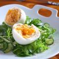ゆで卵のグリーンサラダ♪柚子胡椒ヨーグルトドレッシング by みぃさん