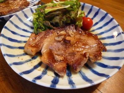 豚テキ(バターしょう油)