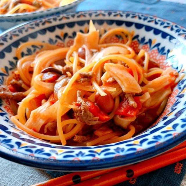 【レシピあり◎】フライパンひとつ!簡単トマトパスタ