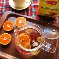 リプトンイエローラベルで作る『オレンジジンジャーティー』が美味しい♪