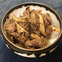 10分でできる簡単なおつまみ!牛肉ときのこのポン酢炒め(1月26日)