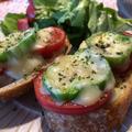 残り物フランスパンがおしゃれランチに♪トマト&チーズトースト♪~ぐんまクッキングアンバサダー~