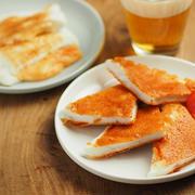 はんぺんの明太チーズせんべい、はんぺんのとろ~り明太チーズ焼き、同じ材料で別料理を作る。