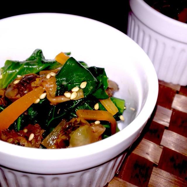 【レシピ】5分でもう1品!青梗菜の赤貝和え(^^♪