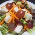 鳥むね肉とぶどうのマリネ~野菜じゃなくてもサラダです~