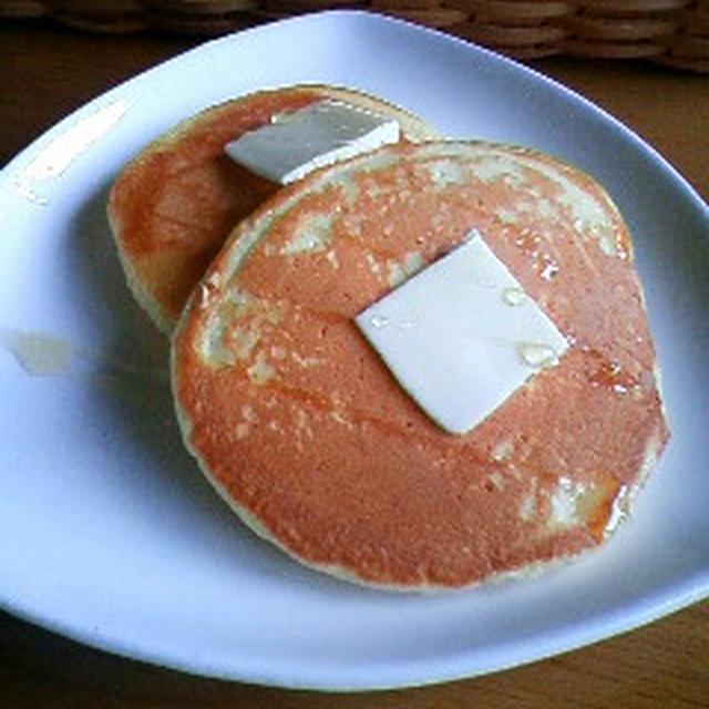 りんごジュースのパンケーキ☆〜牛乳アレルギーでも♪〜
