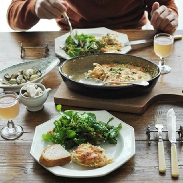 牡蠣のコンフィ & 里芋のガットー