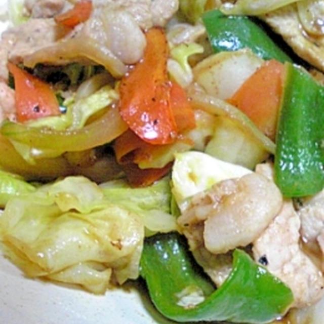 ソース味の肉野菜炒め