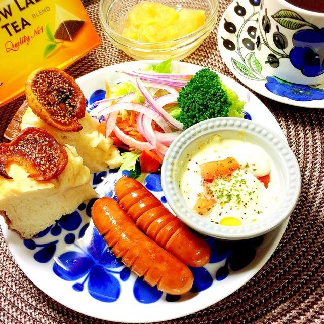リプトンの朝食♪ トマト&モッツァレラチーズ焼き