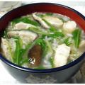 ✲鶏ささみと水菜のわさび雑炊✲