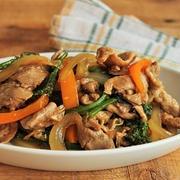 簡単!豚小間で♪生姜焼き風味の肉野菜炒め