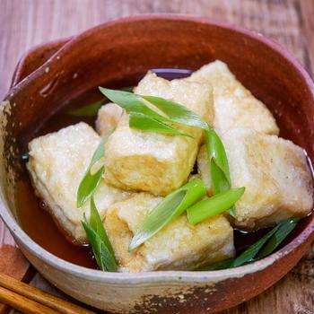 夏だからこそ素麺つゆで作る揚げ出し豆腐&「博多餃子 八助と四角いスイカ」