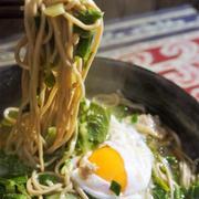 ■菜園料理【豚肉と白菜の蕎麦 卵入り】簡単に!!10分で^^