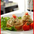 おうちワインバーOpen☆蟹サラダのフランスパン乗せ