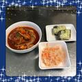 【献立9】鶏もも肉のトマト煮・なます・こんにゃくの味噌チーズ焼き