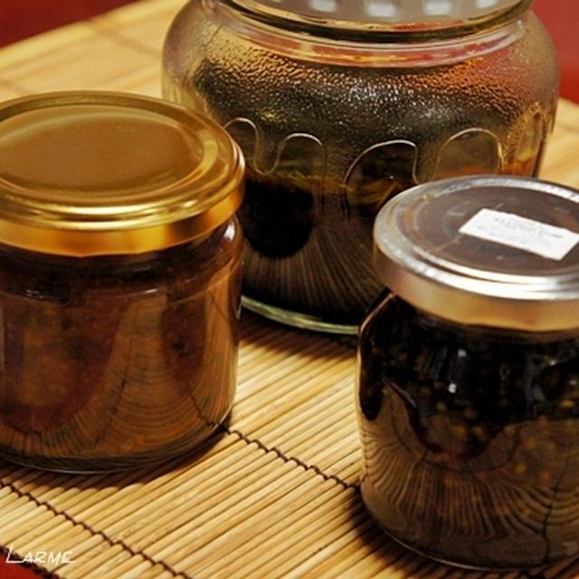 紫蘇を使った保存食とチューリッヒ風牛肉クリームソース煮