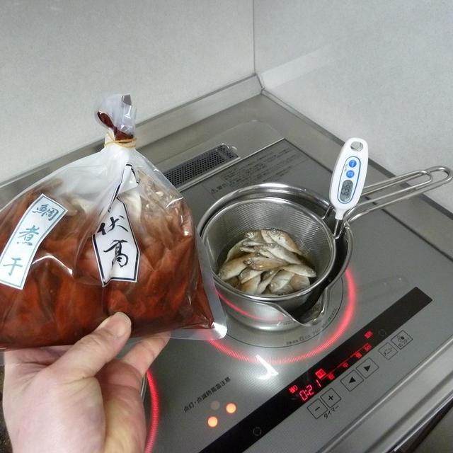 鯛煮干を使った冷蔵庫整理、炊き込みご飯♪