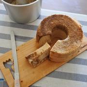 私流、豆乳メレンゲのシフォンケーキ。コツ動画を作りました♥