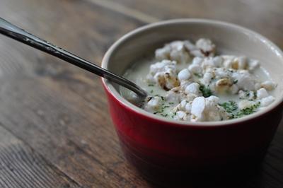 さつま芋の冷製ヨーグルトスープ +α やずや雑穀畑