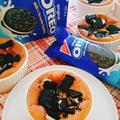 オレオココアチーズケーキ♪黒ごまパン♪