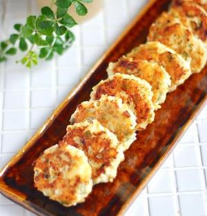 チーズがカリッ!大葉マヨの鶏つくね*カヌレって美味しい。