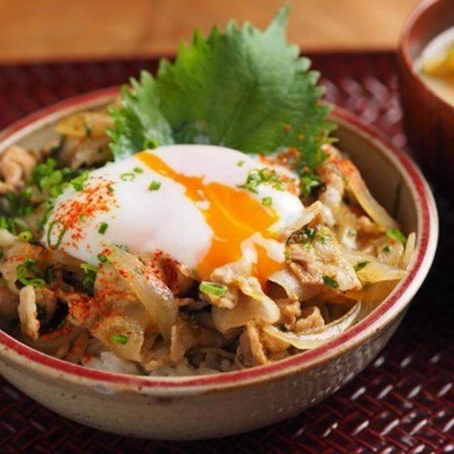 海苔豚丼 、 15分で作れる温泉卵
