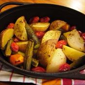 クミンシードで野菜ダッチオーブン焼き