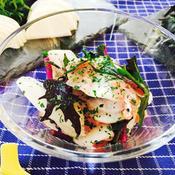 大根と水菜の生ハムサラダ