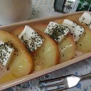 シンプル調理が美味しすぎる♪ りんごの水煮 ミント&クリチで☆
