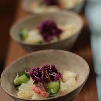蕪とズワイガニのサラダ。