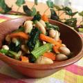 小松菜と大豆のサラダ