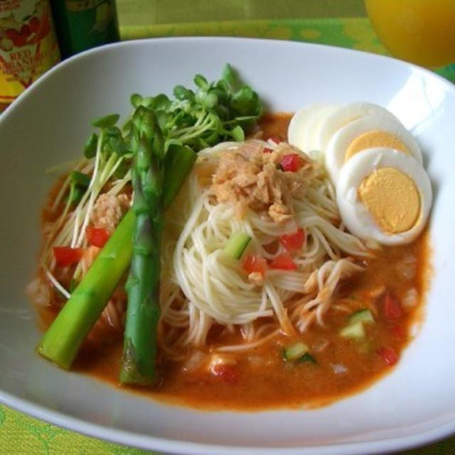 1日分の野菜冷麺(素麺)♪