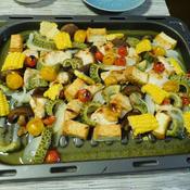 鶏胸肉と夏野菜のグリル焼き