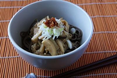 キノコつゆ蕎麦