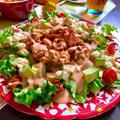 鶏肉とアボカドのオーロラソースサラダのレシピ(*^^*)