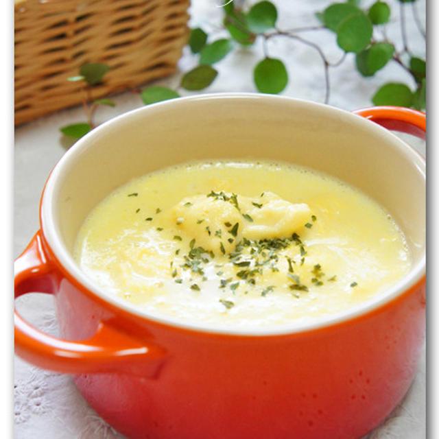 とうもろこしとフワフワ卵のスープ