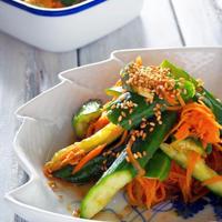 【作り置きレシピ】きゅうりとニンジンの中華風ピリ辛漬け