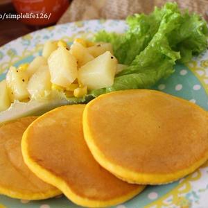 朝食やおやつに♪「ジュース」で作るパンケーキ