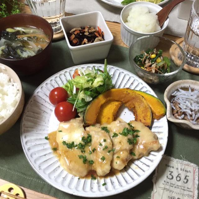 鶏肉の和風チーズステーキ♡…めっちゃ急いだ晩ごはん。
