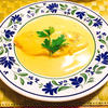 白身魚のサフランクリームソース