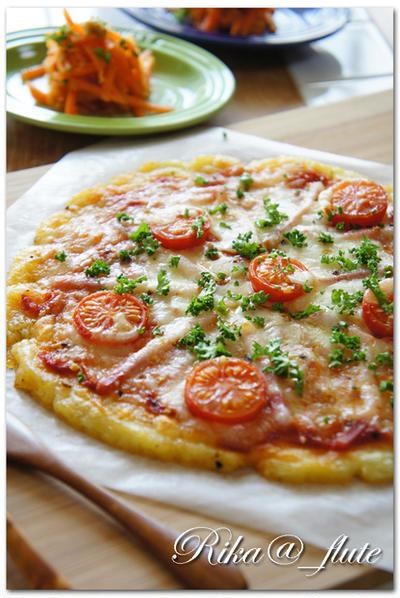 じゃがいも生地の柔らかピザ 【オリーブオイルライフ更新されています!】