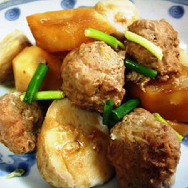ミートボールと根菜の煮物