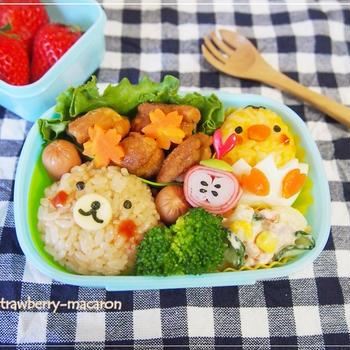 3歳次男ちゃん☆遠足弁当とお弁当残りでリメイク晩御飯♪
