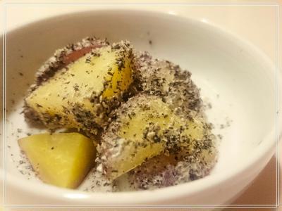 【Recipe:お芋の黒ごまマヨ】今年の風邪はしつこいわ( ´_ゝ`)